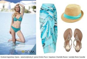 Stylowa na plaży: niebieski hitem sezonu!