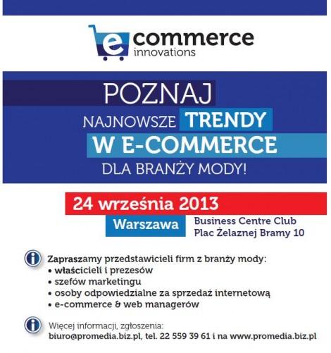 Shopping Wydarzenia  E-sprzedaż w modzie - Konferencja e-commerce innovations