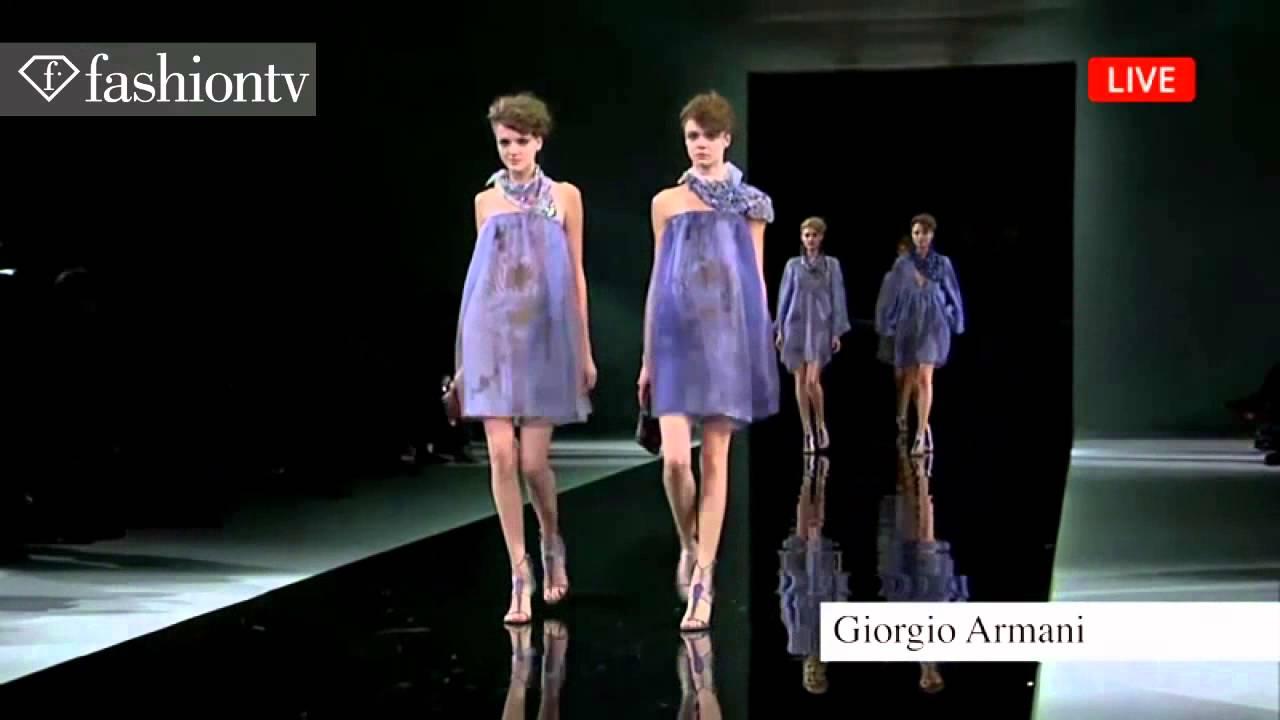 Giorgio Armani Wiosna/Lato  2014 Milan Fashion Week