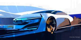 Szkic Hondy FCEV Concept