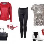 Stylizacje  Kobieca i szlachetna czerwień na jesienną porę