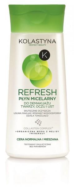 Kosmetyki Make-up Uroda  KOLASTYNA REFRESH - Nowe Płyny micelarne do demakijażu