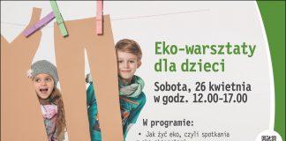 """""""EKO-WARSZTATY DLA DZIECI"""" – EKOLOGICZNY PIKNIK W WOLA PARK!"""