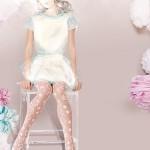 Moda dziecięca  Little Lady Line – rajstopy idealne na pierwszą komunię