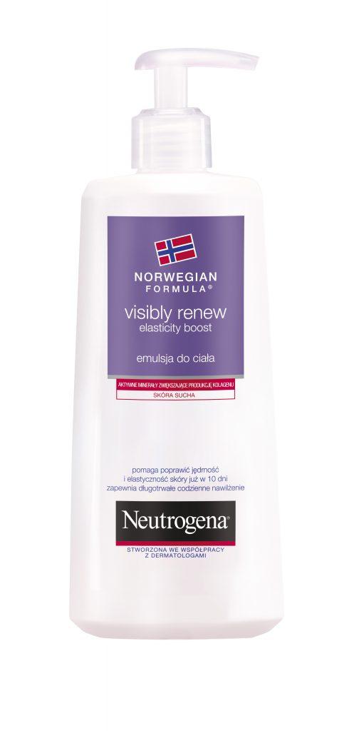 Kosmetyki Uroda  NEUTROGENA® Formuła Norweska Visibly Renew Elasticity Boost, która poprawia elastyczność skóry już w 10 dni!