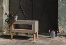 Sztuka na tarasie - Morgan & Möller - stolik z betonu architektonicznego