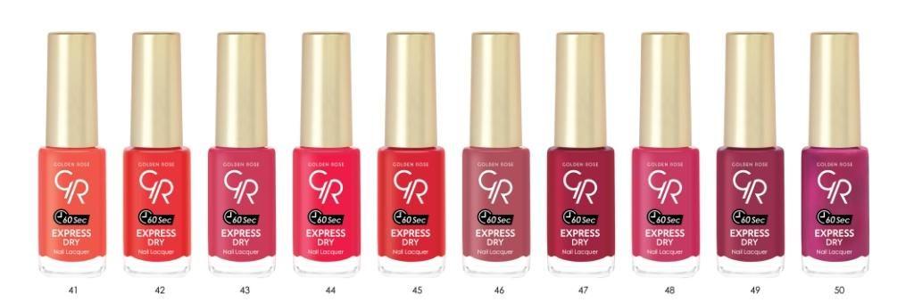 Kosmetyki Uroda  Express Dry Nail Lacquers Golden Rose – nowe lakiery schnące w 60 sekund