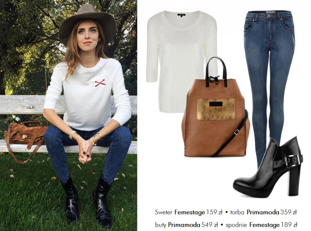 Jej styl Stylizacje  Jej styl - Chiara Ferragni
