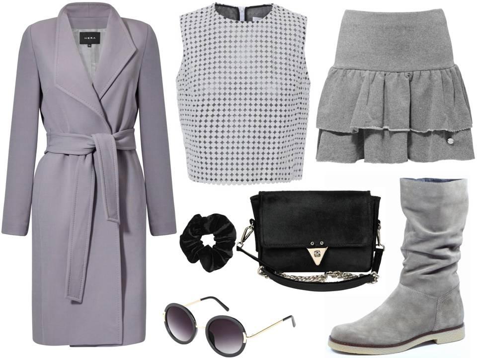 Moda Damska Stylizacje  Szare ulice i stylowe płaszcze