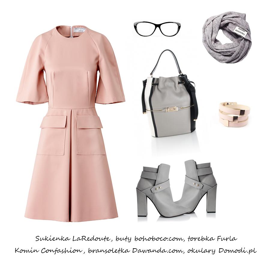 Moda Damska Stylizacje  Pudrowy róż na jesień!