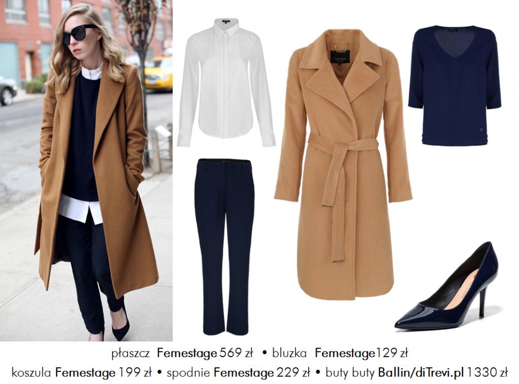 Moda Damska Stylizacje  W roli głównej – płaszcz
