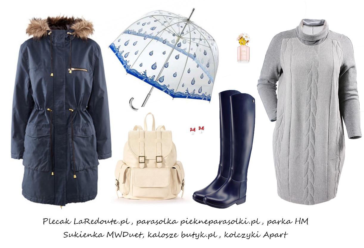 Moda Damska Stylizacje  Stylizacje na deszczowe dni!