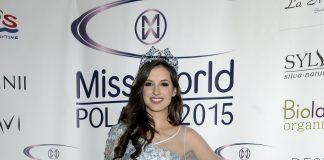 Miss World Poland Marta Pałucka w sukni wieczorowej