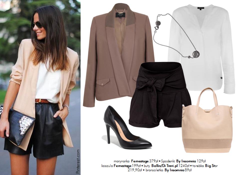 Moda Damska Stylizacje  W roli głównej - biała koszula