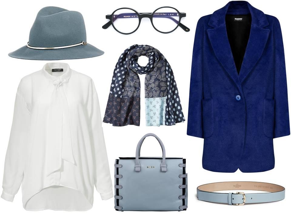 Moda Damska Stylizacje  W odcieniach błękitu