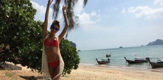 Ewa Mielnicka na wakacjach w Tajlandii