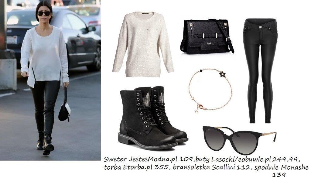 Moda Damska Stylizacje  Styl Kourtney Kardashian