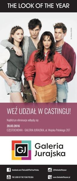 Wydarzenia  Pierwszy casting THE LOOK OF THE YEAR 2016 w Galerii Jurajskiej