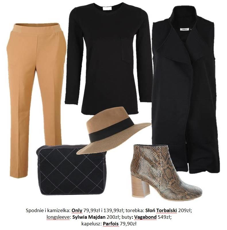 Moda Damska  Czarna torebka na trzy sposoby