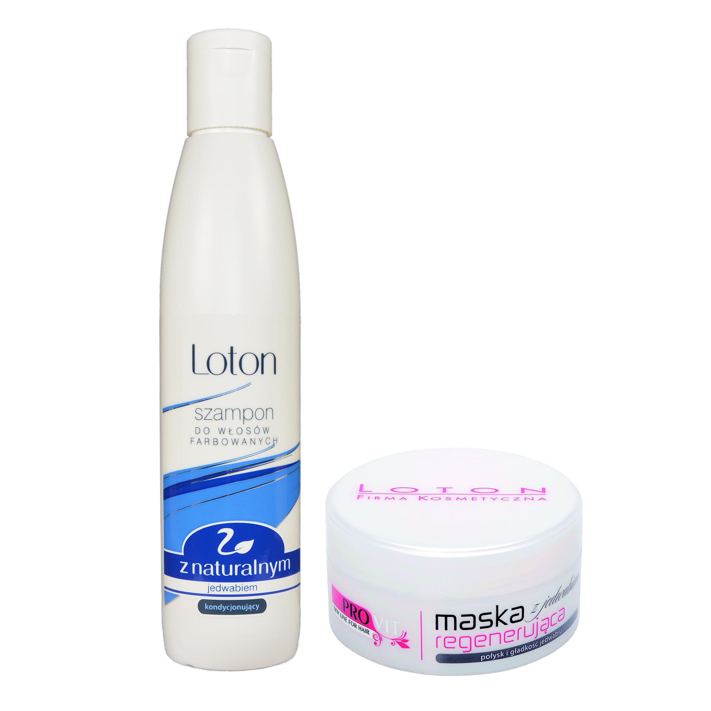 zestaw z jedwabiem – szampon i maska