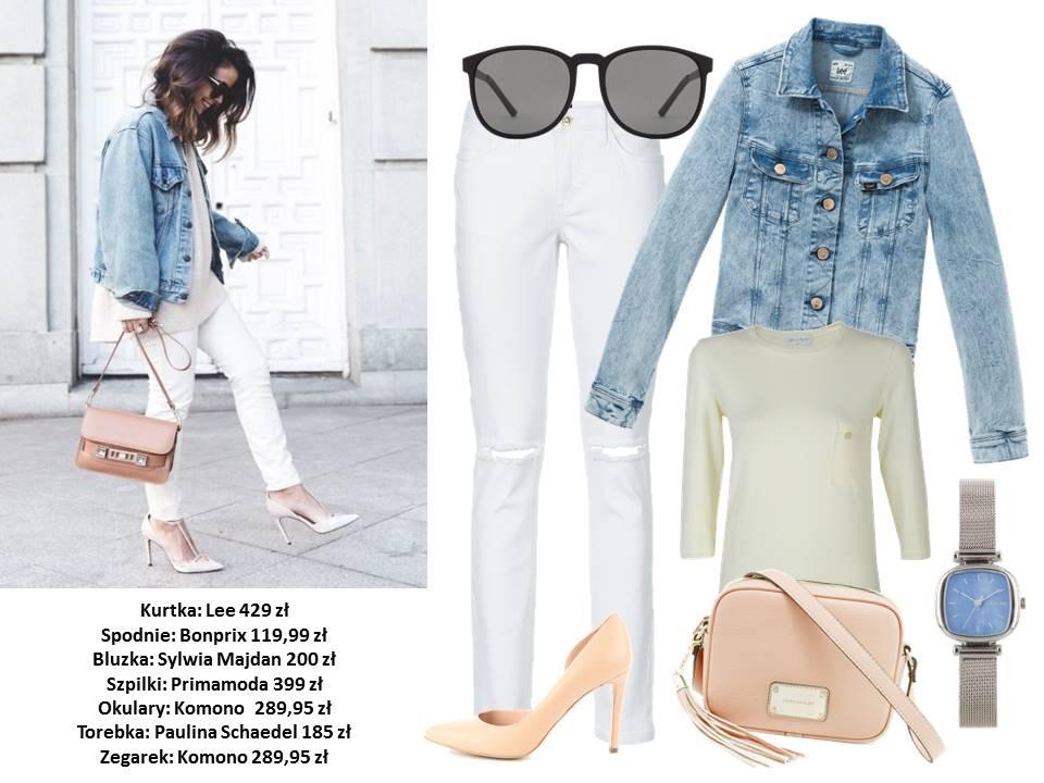 Stylizacje  Fokus na jeansową kurtkę