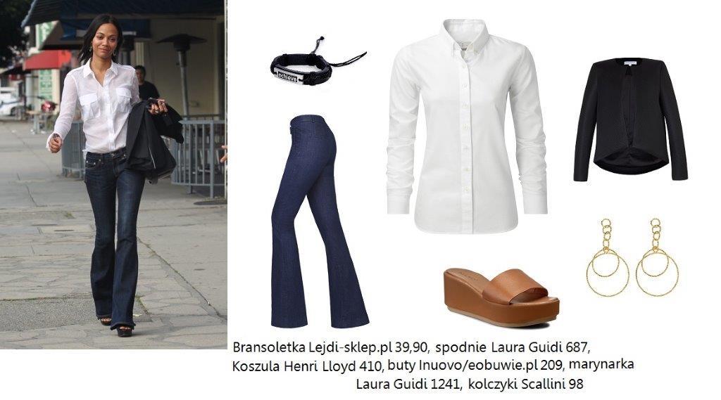 Stylizacje  Pozycja obowiązkowa: biała koszula