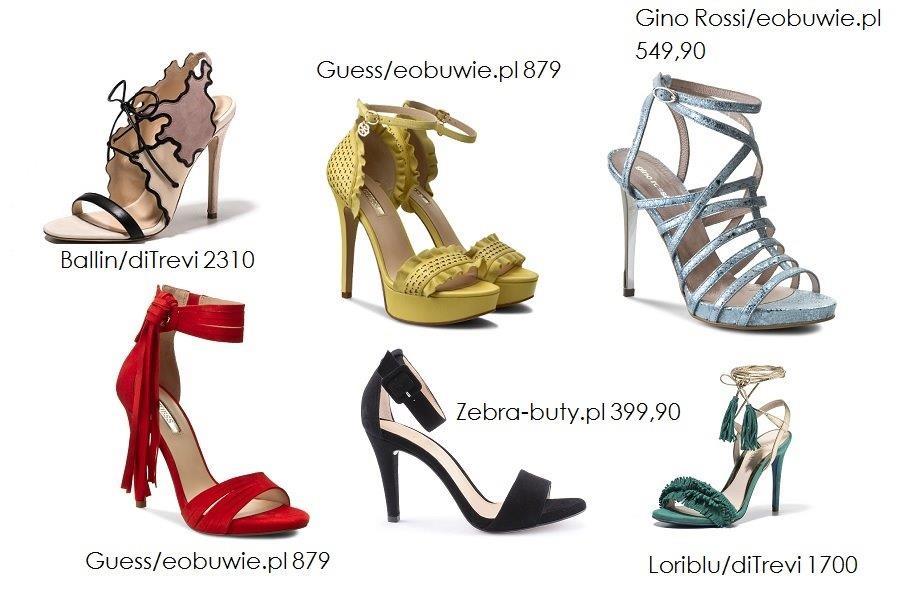 sandały na szpilce - przegląd butów na wiosnę