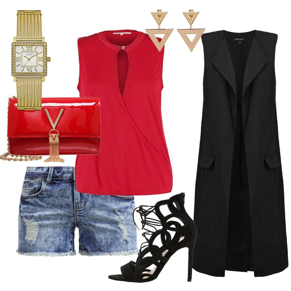 Stylizacje  Dżinsowe szorty w eleganckim towarzystwie 7 stylizacji