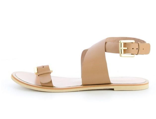 Buty  Damskie skórzane sandały na płaskiej podeszwie – zobacz nasze propozycje!