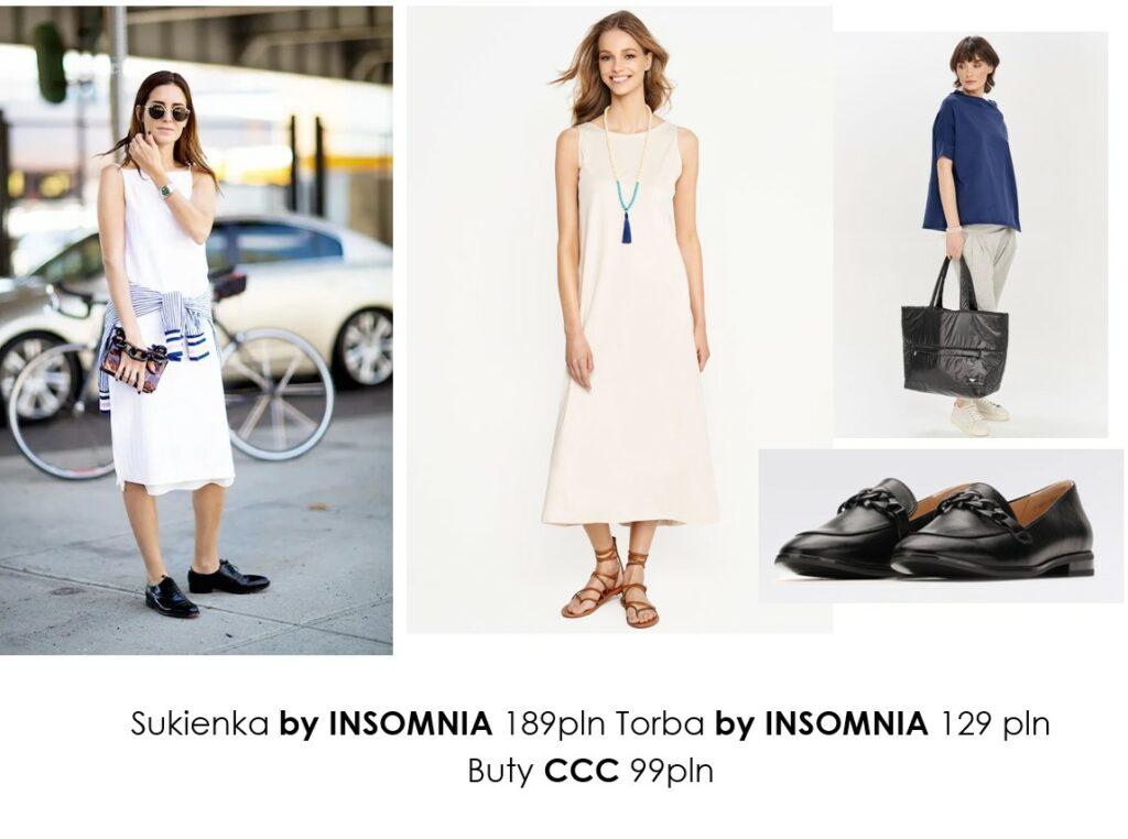 Stylizacje  Lato w białej sukience