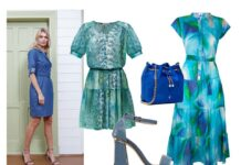 Stylizacja nr 1: zdjęcie wizerunkowe – Midori Feminine fashion, sukienka krótka – Jelonek/ jelonekm.pl, sukienka długa – Midori Feminine Fashion/ midori.pl, torebka i buty- Menbur/menbur.pl
